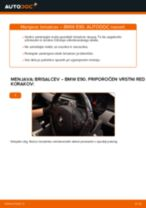 Kako zamenjati avtodel brisalce spredaj na avtu BMW E90 diesel – vodnik menjave