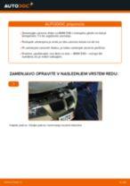 Kako zamenjati avtodel zavorni diski spredaj na avtu BMW E90 bensin – vodnik menjave