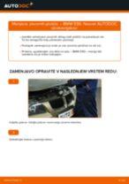 Kako zamenjati avtodel zavorne ploščice spredaj na avtu BMW E90 bensin – vodnik menjave