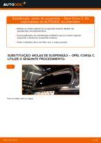 Como mudar molas de suspensão da parte traseira em Opel Corsa C diesel - guia de substituição