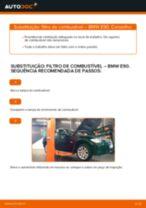 Como mudar filtro de combustível em BMW E90 diesel - guia de substituição