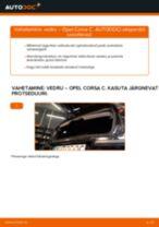 Millal vahetada Puhver & Kaitsemüts Amortisaator OPEL CORSA C (F08, F68): käsiraamat pdf