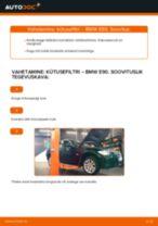 Kuidas vahetada BMW E90 diisel kütusefiltri – õpetus