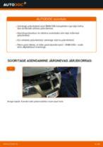 Kuidas vahetada BMW E90 bensiin esi-piduriketaste – õpetus