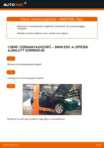 Üzemanyagszűrő-csere BMW E90 dízel gépkocsin – Útmutató