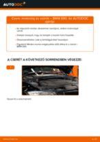 Motorolaj és szűrők-csere BMW E90 dízel gépkocsin – Útmutató