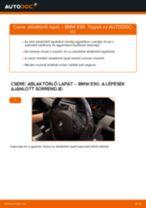 Elülső ablaktörlő lapát-csere BMW E90 dízel gépkocsin – Útmutató