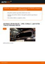 Kaip pakeisti Opel Corsa C dyzelis spyruoklės: galas - keitimo instrukcija