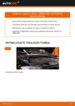 Kaip pakeisti BMW E90 dyzelis variklio alyvos ir alyvos filtra - keitimo instrukcija