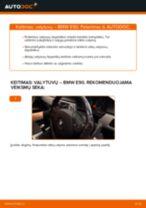 Kaip pakeisti BMW E90 dyzelis valytuvų: priekis - keitimo instrukcija