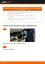 Udskift bremseklodser for - BMW E90 benzin   Brugeranvisning