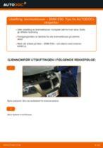 Slik bytter du bremseklosser fremme på en BMW E90 bensin – veiledning