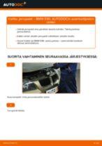 Kuinka vaihtaa jarrupalat eteen BMW E90 bensa-autoon – vaihto-ohje