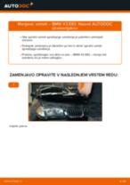 Menjava spredaj levi desni Vzmeti BMW naredi sam - navodila pdf na spletu