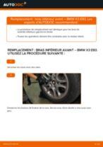 Comment changer et régler Triangle de suspension BMW X3 : tutoriel pdf