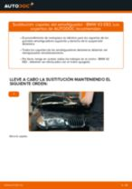 Cómo cambiar: copelas del amortiguador de la parte delantera - BMW X3 E83 gasolina | Guía de sustitución
