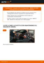 Cómo cambiar: copelas del amortiguador de la parte trasera - BMW X3 E83 gasolina | Guía de sustitución