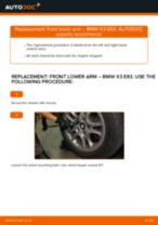 Auto mechanic's recommendations on replacing BMW BMW X3 E83 3.0 d Control Arm