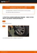 Montering Hovedbremsesylinder BMW X3 (E83) - steg-for-steg manualer