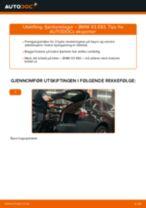 Hvordan bytte og justere Glødelampe Nummerskiltlys BMW X3: pdf håndbøker