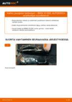 Kuinka vaihtaa jousijalan tukilaakeri eteen BMW X3 E83 bensa-autoon – vaihto-ohje