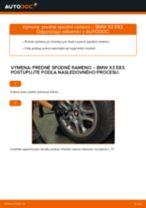 Ako vymeniť a regulovať Rameno Zavesenia Kolies BMW X3: sprievodca pdf