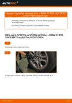 Zamenjavo Roka BMW X3: navodila za uporabo