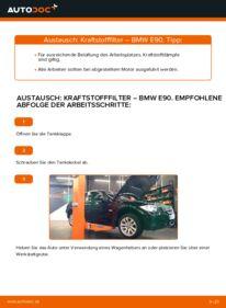 Wie der Wechsel durchführt wird: Kraftstofffilter 320d 2.0 BMW E90 tauschen