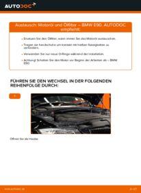 Wie der Wechsel durchführt wird: Ölfilter 320d 2.0 BMW E90 tauschen
