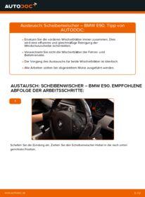 Wie der Wechsel durchführt wird: Scheibenwischer 320d 2.0 BMW E90 tauschen
