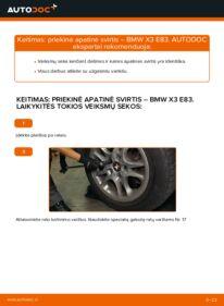 Kaip atlikti keitimą: 2.0 d BMW X3 E83 Vikšro Valdymo Svirtis