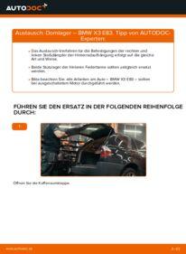Wie der Wechsel durchführt wird: Domlager 2.0 d BMW X3 E83 tauschen