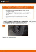 Πώς αλλαγη και ρυθμιζω Κυλινδράκια τροχών πίσω και εμπρος: δωρεάν οδηγίες pdf