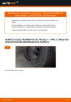 Como mudar bombitos de travão em Opel Corsa S93 - guia de substituição