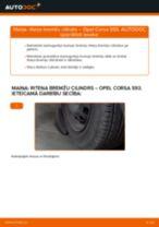 Tiešsaistes bezmaksas instrukcijas kā mainīties Riteņa bremžu cilindrs OPEL CORSA B (73_, 78_, 79_)