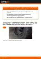Wie Opel Corsa S93 Radbremszylinder wechseln - Anleitung