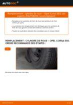 Comment changer : cylindre de roue sur Opel Corsa S93 - Guide de remplacement