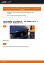VW TRANSPORTER tõrkeotsingu käsiraamat