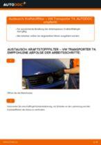 Hinweise des Automechanikers zum Wechseln von VW VW T4 Transporter 2.4 D Scheibenwischer