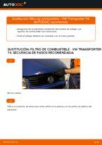 Cómo cambiar: filtro de combustible - VW Transporter T4 | Guía de sustitución
