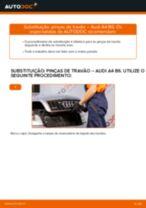 Como mudar pinças de travão da parte dianteira em Audi A4 B6 - guia de substituição