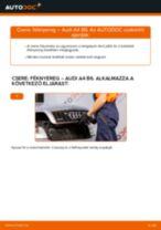 Elülső féknyereg-csere Audi A4 B6 gépkocsin – Útmutató