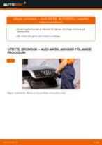 Bilmekanikers rekommendationer om att byta AUDI Audi A4 b7 2.0 TDI 16V Bromsbelägg