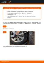 Skifte Fjæring AUDI A4: gratis pdf