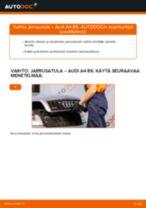 Kuinka vaihtaa jarrusatula eteen Audi A4 B6-autoon – vaihto-ohje