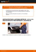 Πώς να αλλάξετε δαγκάνα φρένων εμπρός σε Audi A4 B6 - Οδηγίες αντικατάστασης