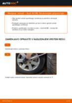 Kako zamenjati spredaj levi desni Vzmeti AUDI A4 (8E2, B6) - vodič spletu