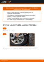 Como mudar molas de suspensão da parte dianteira em Audi A4 B6 - guia de substituição