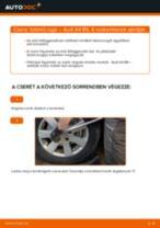 Elülső futómű rugó-csere Audi A4 B6 gépkocsin – Útmutató