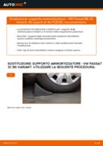 Come cambiare supporto ammortizzatore della parte posteriore su VW Passat 3C B6 Variant - Guida alla sostituzione